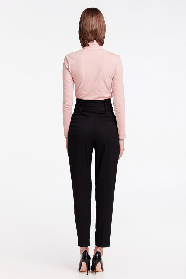 High-waisted black pants photo 6 - MustHave online store