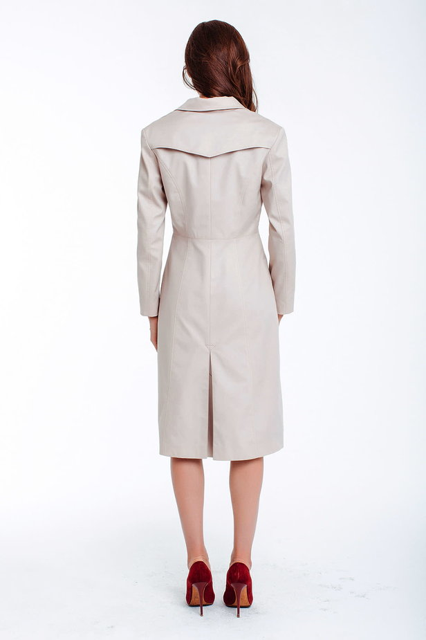 Double-breasted beige trenchcoat photo 3 - MustHave online store