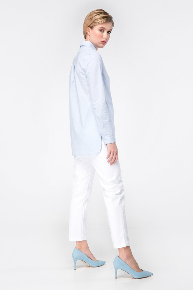 Blue long shirt photo 5 - MustHave online store