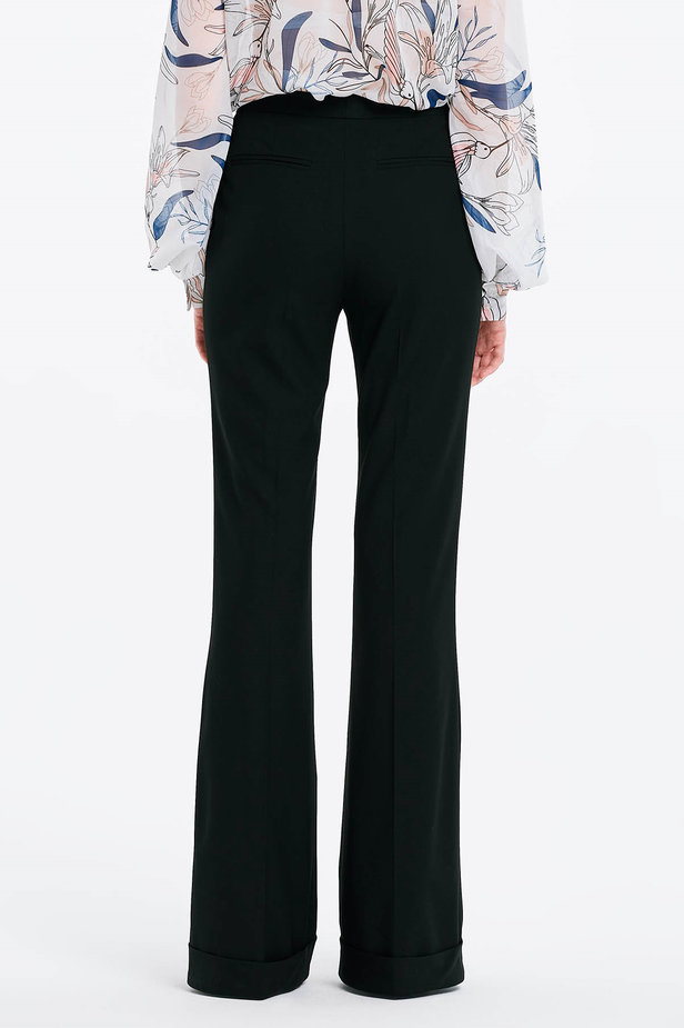 Flared black trousers photo 2 - MustHave online store