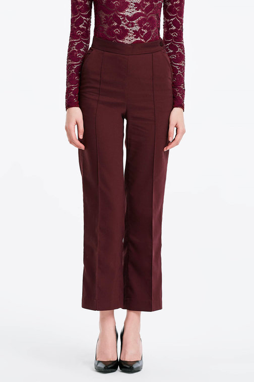 Burgundy trousers