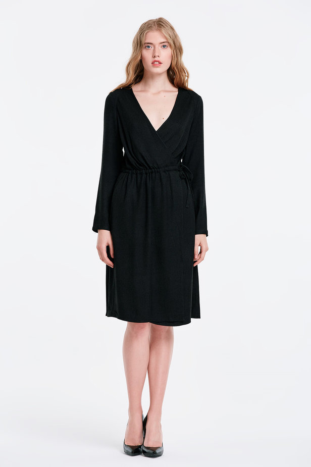 Wrap black dress photo 5 - MustHave online store