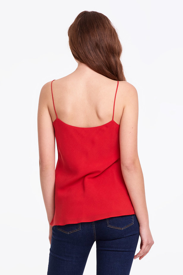 Red rayon top photo 4 - MustHave online store
