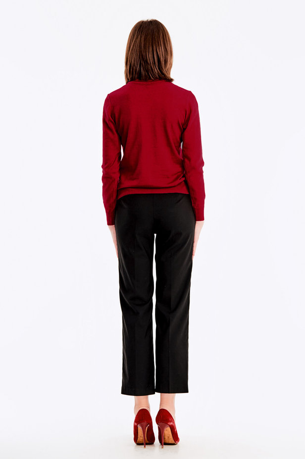 Red knit polo neck photo 6 - MustHave online store