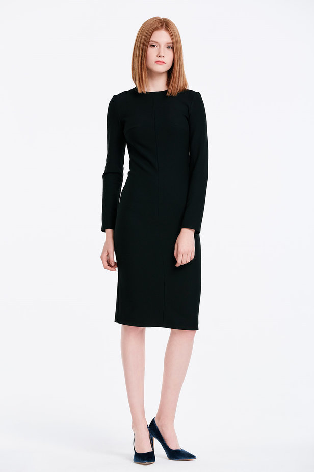 Column black dress photo 4 - MustHave online store
