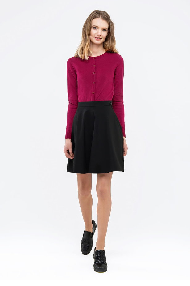 Raspberry-red sweater with buttons photo 5 - MustHave online store