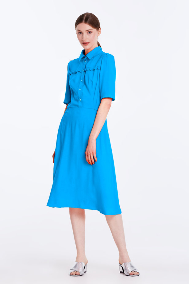 Blue dress with a shirt top photo 3 - MustHave online store