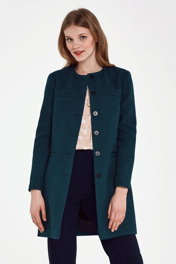 Long green jacket with lurex photo 1 - MustHave online store
