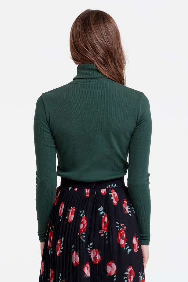 Dark green polo neck photo 4 - MustHave online store
