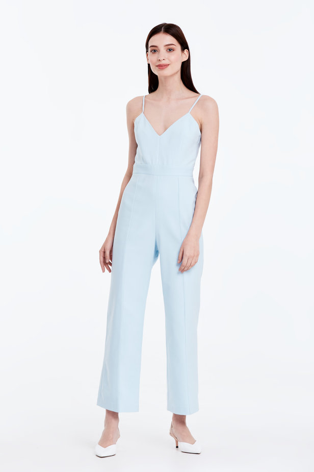 Blue jumpsuit with straps photo 1 - MustHave online store