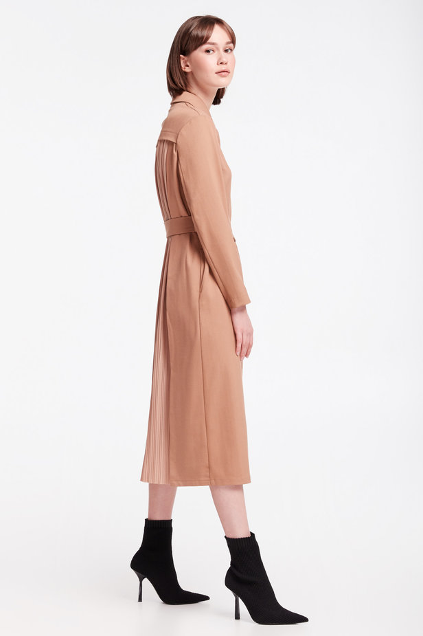 Beige dress-trench MUSTHAVE X LITKOVSKAYA photo 6 - MustHave online store