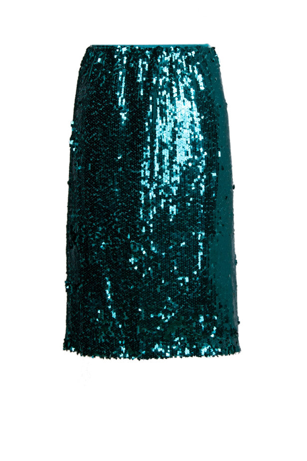 Green sequin skirt photo 2 - MustHave online store