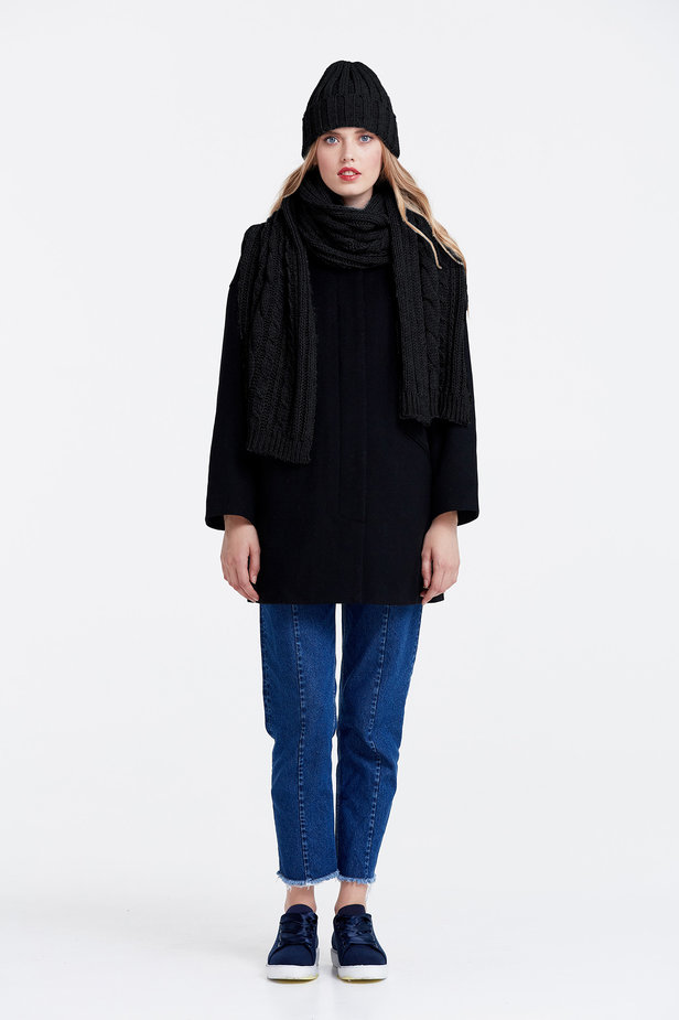 Black scarf photo 4 - MustHave online store