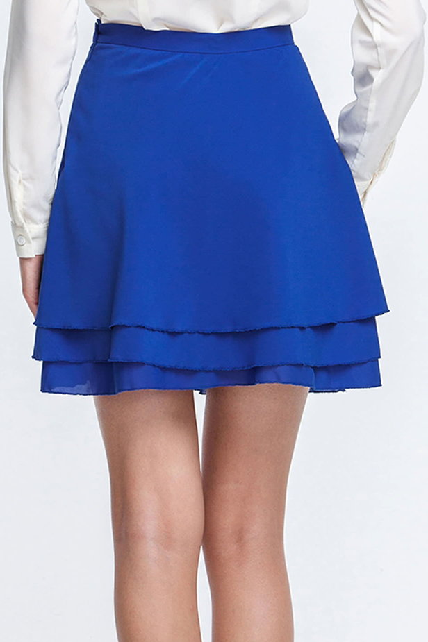 Mini blue chiffon skirt photo 2 - MustHave online store