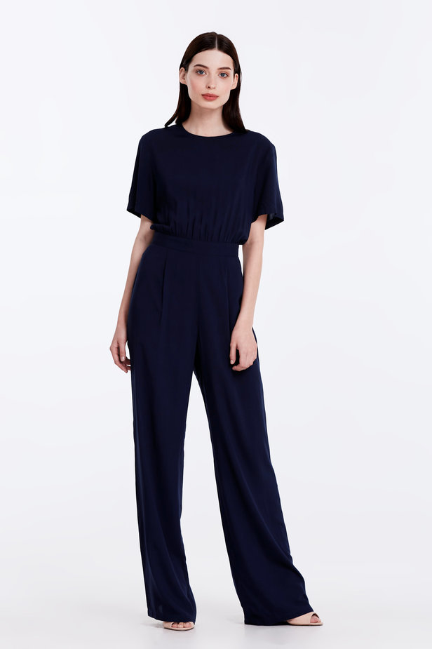 Dark-blue jumpsuit photo 3 - MustHave online store
