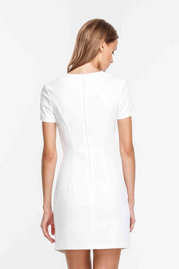 Wrap white dress photo 2 - MustHave online store