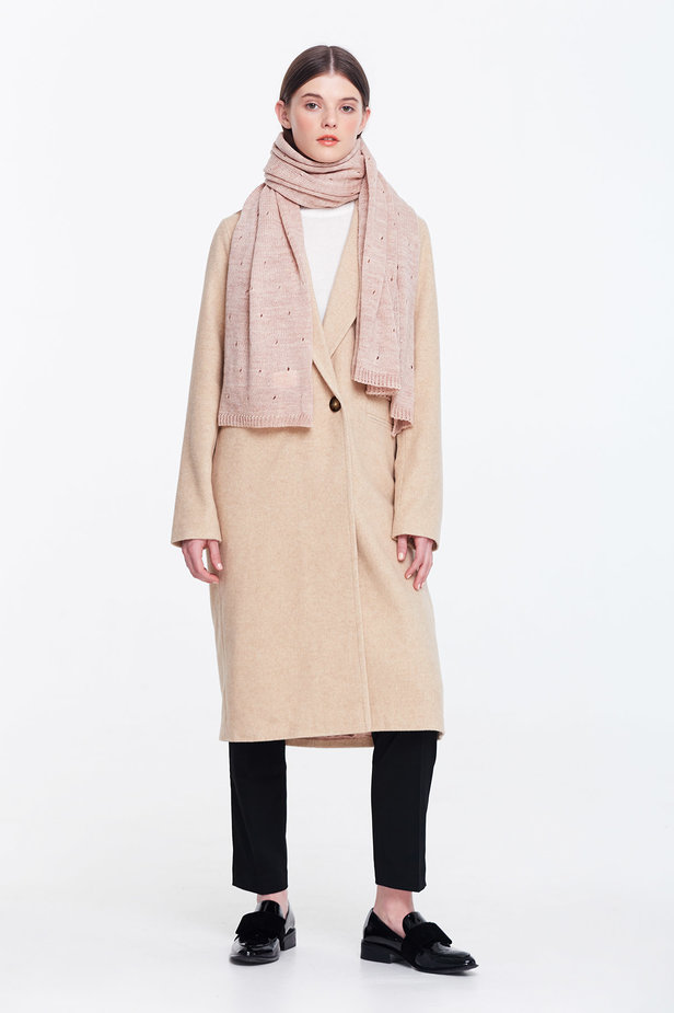 Beige scarf photo 2 - MustHave online store