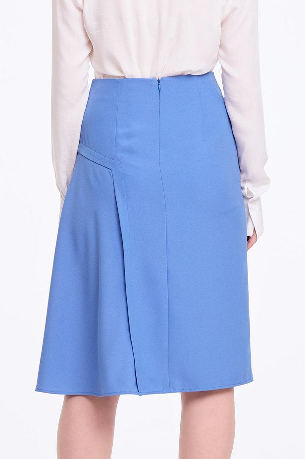 Blue skirt with pleats photo 3 - MustHave online store