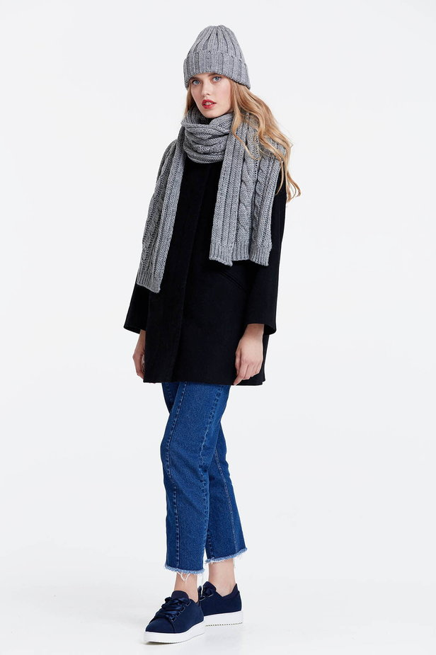 Grey scarf photo 2 - MustHave online store