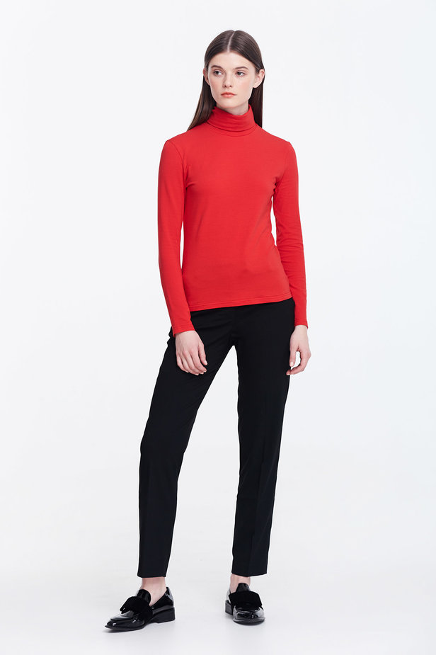 Red polo neck photo 4 - MustHave online store