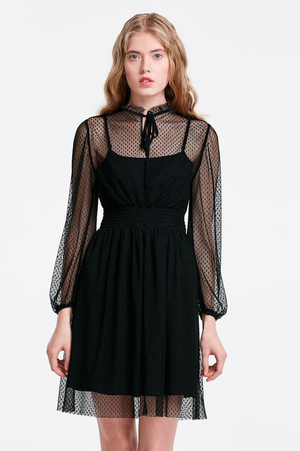 Black lace dress photo 1 - MustHave online store