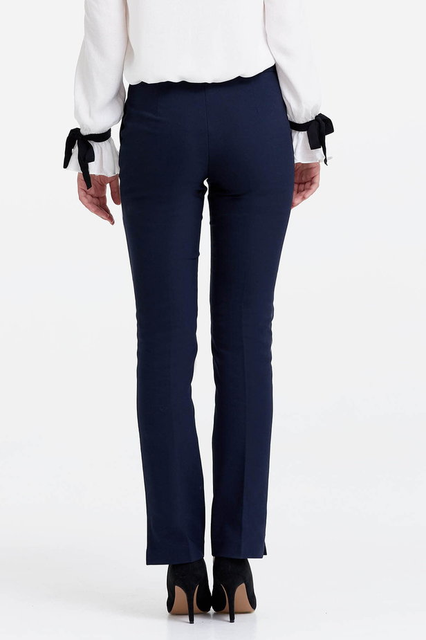 Dark blue trousers with slits photo 4 - MustHave online store