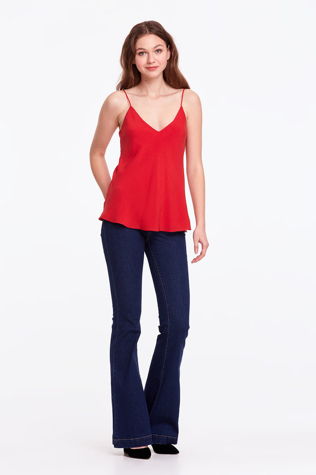 Red rayon top photo 6 - MustHave online store