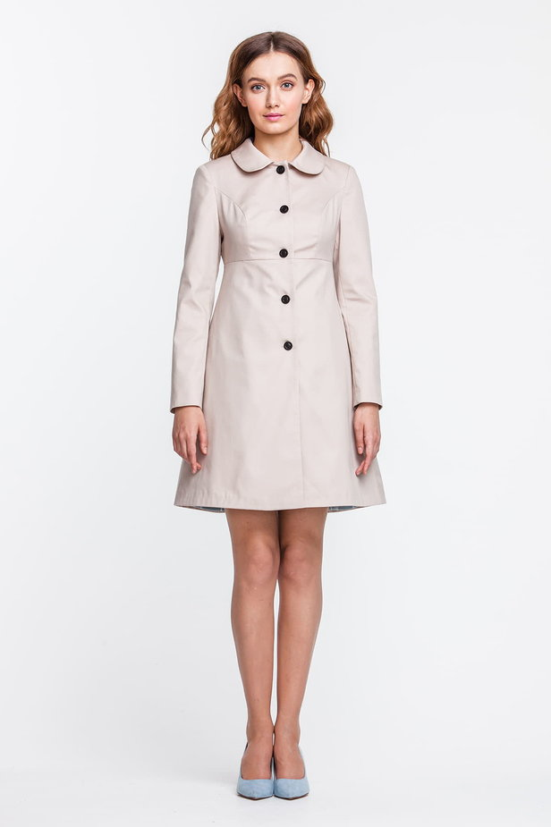 A-line beige trenchcoat photo 1 - MustHave online store