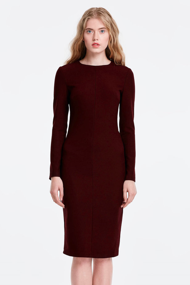 Column wine dress photo 1 - MustHave online store