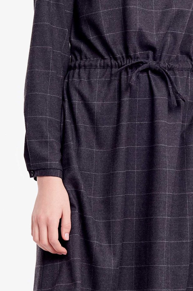 Below-knee grey dress photo 2 - MustHave online store