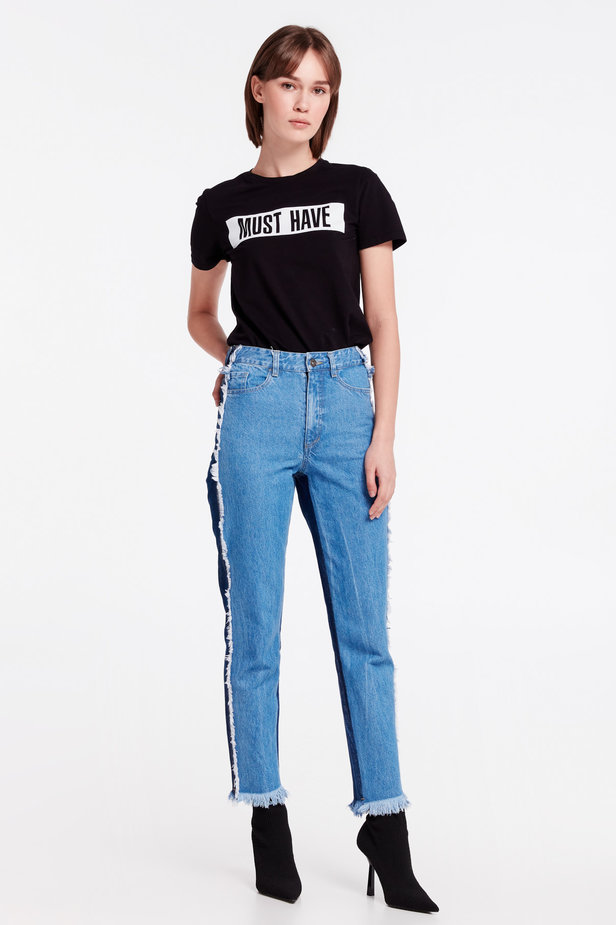 Double-colored jeans MUSTHAVE X LITKOVSKAYA photo 2 - MustHave online store