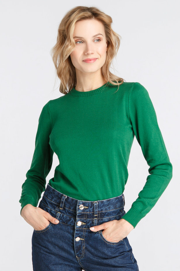 Green knitted sweater photo 1 - MustHave online store
