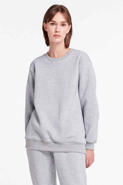 Grey long sweatshirt