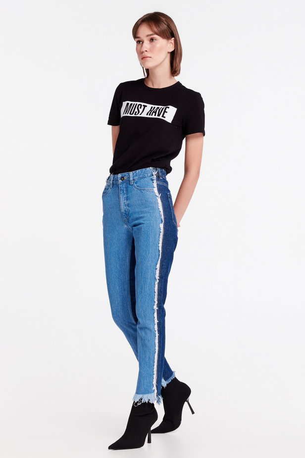 Double-colored jeans MUSTHAVE X LITKOVSKAYA photo 3 - MustHave online store