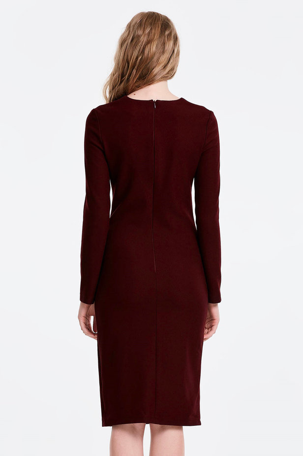 Column wine dress photo 2 - MustHave online store