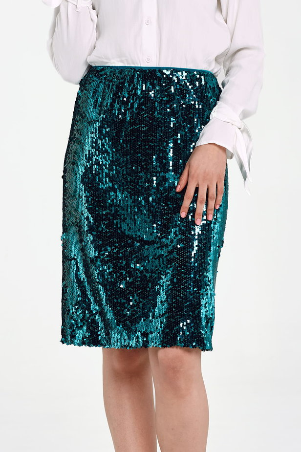 Green sequin skirt photo 1 - MustHave online store