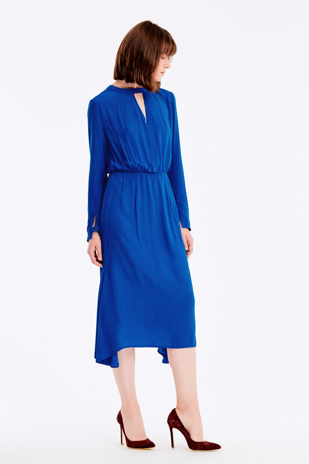 Blue dress with a keyhole photo 6 - MustHave online store