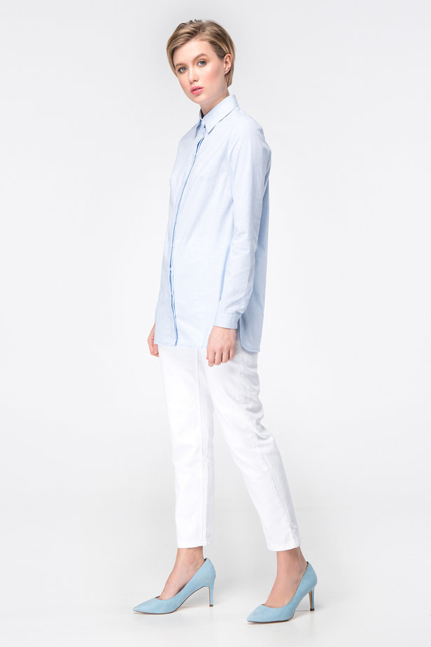 Blue long shirt photo 3 - MustHave online store