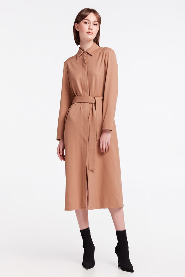 Beige dress-trench MUSTHAVE X LITKOVSKAYA photo 2 - MustHave online store