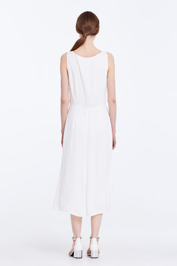 Midi white sundress with buttons photo 6 - MustHave online store