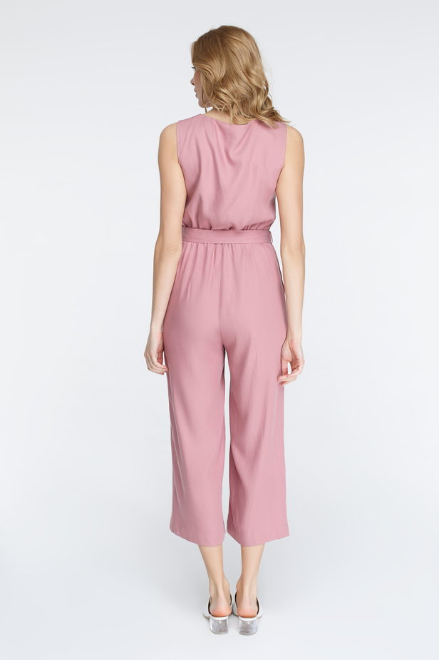 Pink jumpsuit with buttons photo 6 - MustHave online store