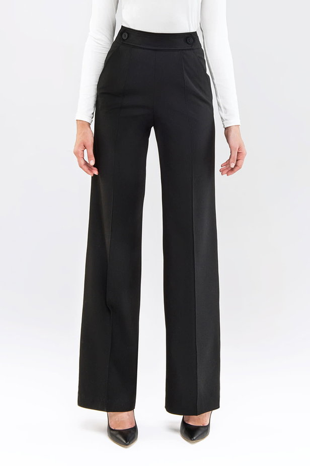 Black pants with a belt photo 1 - MustHave online store