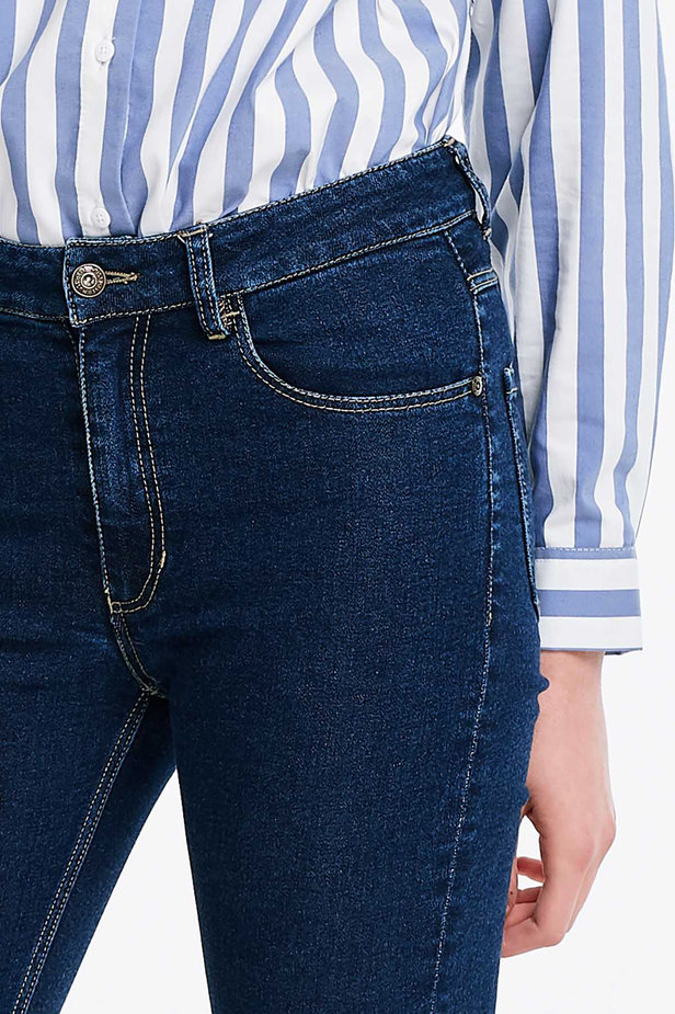 Short skinny blue jeans photo 2 - MustHave online store