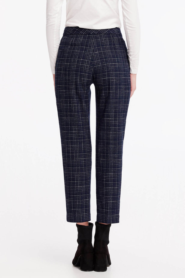 Dark-blue checkered pants photo 4 - MustHave online store