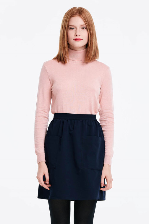 Powder pink polo neck