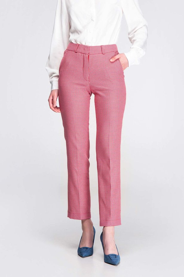 Pink-red houndstooth pants photo 5 - MustHave online store