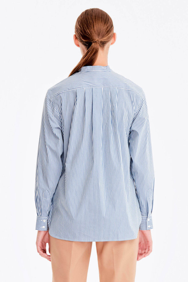 Striped shirt with a bow photo 5 - MustHave online store