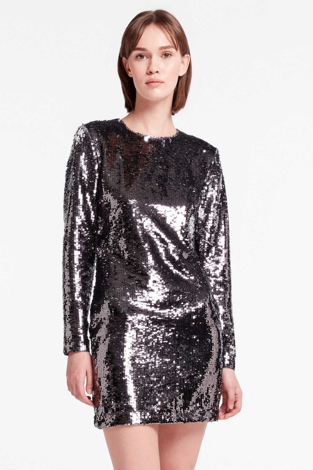 Silver sequin dress photo 1 - MustHave online store