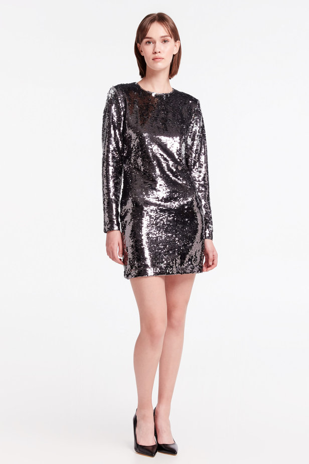 Silver sequin dress photo 2 - MustHave online store