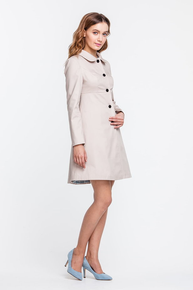 A-line beige trenchcoat photo 4 - MustHave online store
